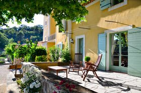 Terrasse Privatunterkunft Chambres d'hotes Provence